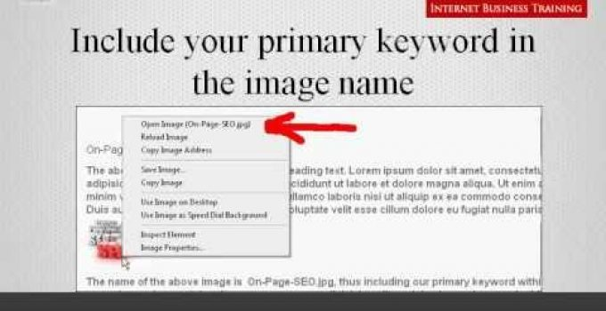 On Page SEO Sample Page