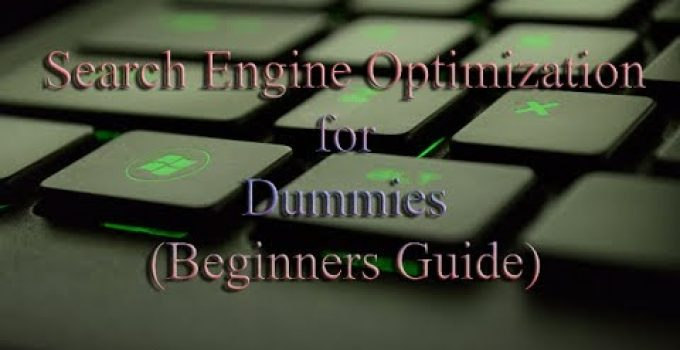 SEO for Dummies Beginners Guide